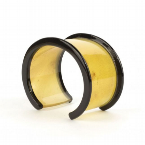 Blond Horn With Black Edges Cuff